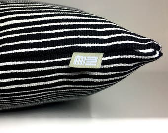 black & white lines pillow > fabric from Marimekko in Helsinki/Finland