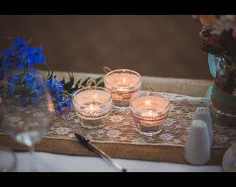 100 Rustic Candle Holders with Candles