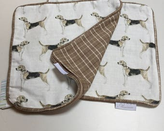 """Pair of """"hounds"""" cushion covers"""