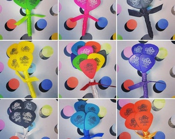 Guitar pick buttonholes - Wedding - Groom - Usher - Best man - Quirky - Music