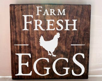 farm fresh eggs kitchen sign, kitchen signs, farmhouse sign, rustic sign, home decor, wood sign