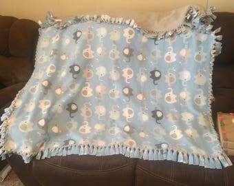 Baby boy tie blanket
