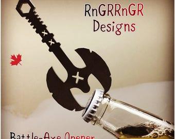 Battle-Axe Bottle Opener