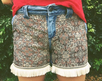 Upcycled | Boho Inspired | Denim Shorts | Organic Cotton