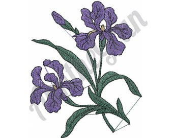 Iris Flower - Machine Embroidery Design