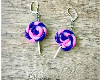 Lollipops in fimo earrings