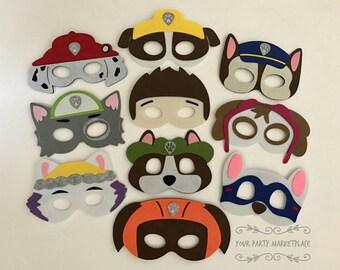 SET OF 10 Paw Patrol Party Masks, Paw Patrol Birthday, Paw Patrol Decorations, Paw Patrol Party, Paw Patrol Party Favors,Paw Patrol Marshall