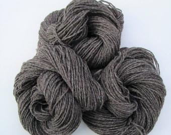 Natural Yarn - Mid Brown - Aran Weight - 160 m/174 yd - 100 g/3.5 oz - Wool - Yarn - Welsh Wool - Welsh Yarn - Natural - Undyed