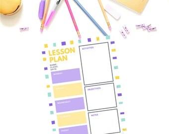 Lesson Plan Template - Purple/Yellow
