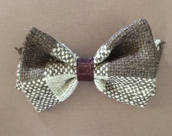 Burlap Brown Bow