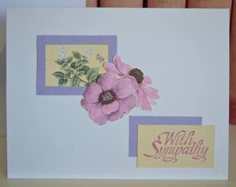 A Flower By Any Other Name - Sympathy Card // Mourning Card // Vintage Embellishments