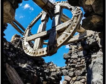 Santorini Windmills, Fine Art Prints, Greek Art, Greece,Travel Photography, Wall Art, Giclee Prints, Unique Birthday Ideas,Greek Ruins