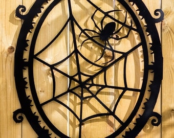 Spiders Web  Metal Art