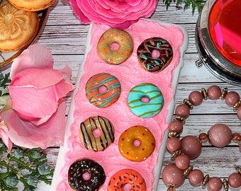 Doughnut - unique gift for friend - Personalized phone case - Phone Case Donut-Unique present-Decoden phone case-unique phone case