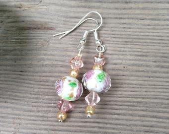 Something girly, pink earrings