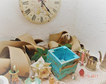 box, tray, subwoofer, sahbby chic, vintage, jewelry, flowers, Garden, decoration, rustic, handmade, romantic, storage, 10.5x11.5x11.5