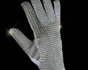 Classic Silver Handmade Billie Jean Shining Glove