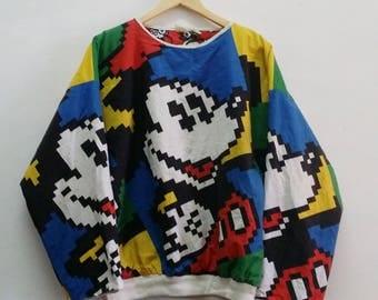 Vintage Mickey Mouse Sweatshirt - Big Mickey Sweatshirt - Rare 80s Mickey-Sweatshirt