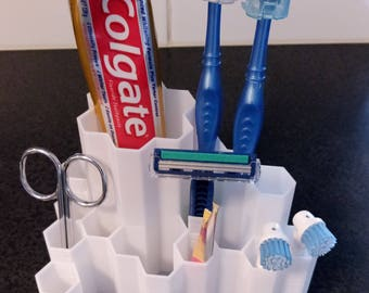 Tooth Brush Holder / Bathroom Organiser / 3D Printed