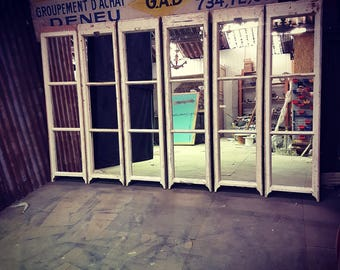Vintage Three Pane Sash Window Mirror