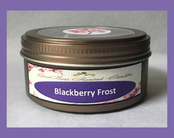 Blackberry Frost Double Wick Soy Candle Tin