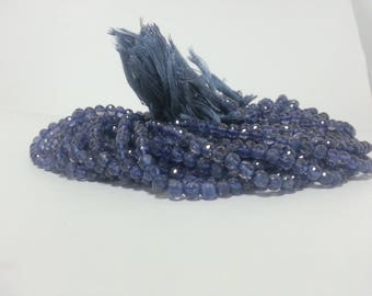 Natural Iolite Faceted Round Beads, Round Iolite Beads, Iolite Ball Bead, Iolite Round Beads, Faceted Iolite Bead, Violet Blue Beads
