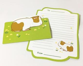 Guinea pig Greeting Card - Green