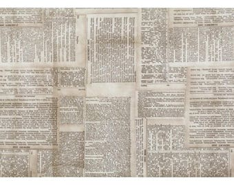 Sewing dictionary etsy studio tim holtz eclectic elements dictionary by freespirit fabrics cotton quilting fabric by meter 11 yards fandeluxe Image collections