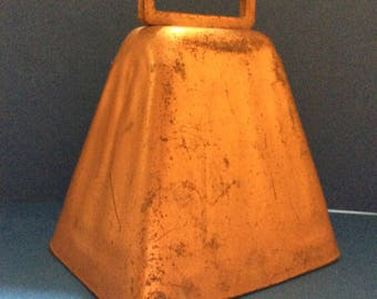 Rustic Vintage 1950s Copper Cow Bell