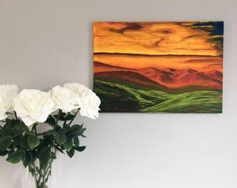 "Original Acrylic Landscape Painting // ""Alternative"" 16.5 x 23.5 Canvas"
