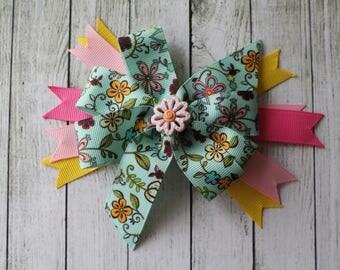 Medium Floral Bow
