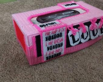 Love tissue box