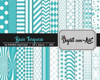 Turquoise Digital Paper