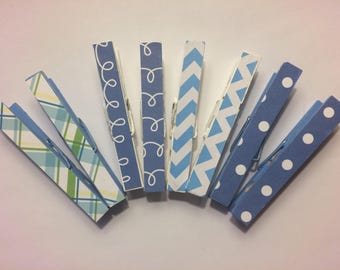 Hand painted decorative clothes pins