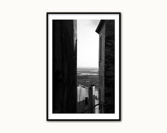 Architecture Photo - Black and White Large Wall Art - Home Decor - Architecture Print - Italy Photography - Italy Fine Art Photography