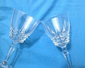 Vintage Cherbourg French Crystal Goblets