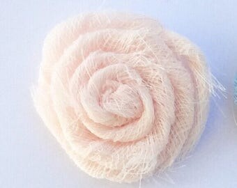 Baby Pink Fabric Flower