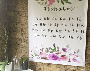 A0 Alphabet wall print