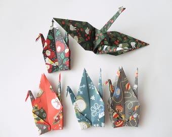 10 large 6'' My Neighbor Totoro Origami paper crane,Winter,Make a wish,Washi Chiyogami,Cute Origami crane,wedding,party,Decoration,Card