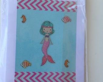 Noteworthy blank greeting cards-JAVA card collection-mermaid design