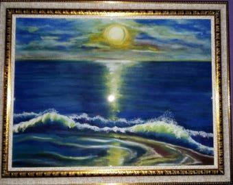 soft Pastel . Painting .Art&Collectibles живопись . пастель . морской пейзаж . картина для интерьера. эксклюзивный подарок по любому поводу