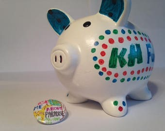 JW Button and Piggy Bank Baby Family Contribution - Kid's Gift