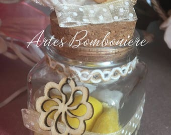 Shabby chic bottle with Cork (B2)