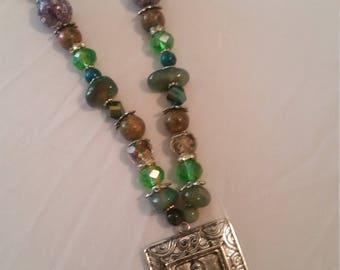 Multicolor Buddha Necklace