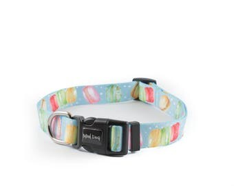 "Dog Collar Mad Dog ""Macarons"" print"