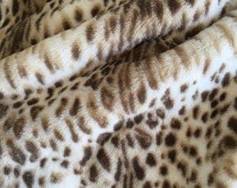 Snow Leopard Faux Fur