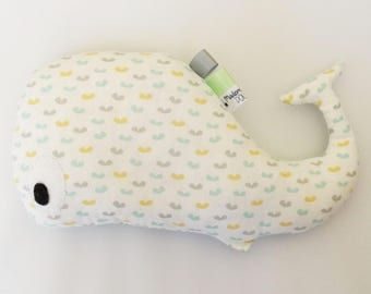 "Doudou whale ""confetti"" multicolored color, baby, birth"