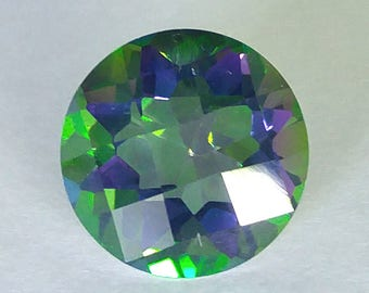 4.50 CT Round Mystic Topaz Gemstone 10mm (T4R031)