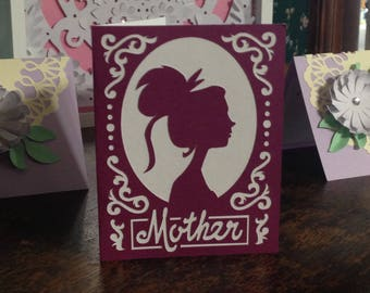 Silhouette Mother Card