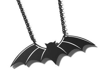 Skeletal Bat Necklace